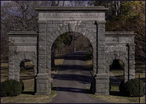 monument cemetery virginia war arch south petersburg confederate civil national american archway battlefield hdr americancivilwar nikond90 blandfordcemetery