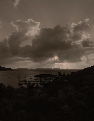 travel blackandwhite sunrise landscape dawn nikon noiretblanc gimp caribbean tortola bvi britishvirginislands westindies d40