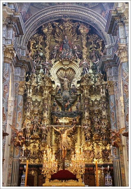 El Cristo del Amor en el Retablo Mayor de El Salvador. Sevilla