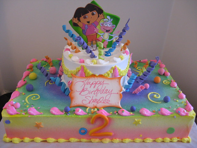 Dora sheet cake | Flickr - Photo Sharing!