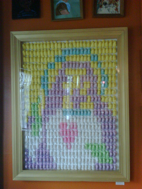 Jesus made from Peeps