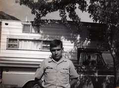 me at 19, in the Air Force, visiting home