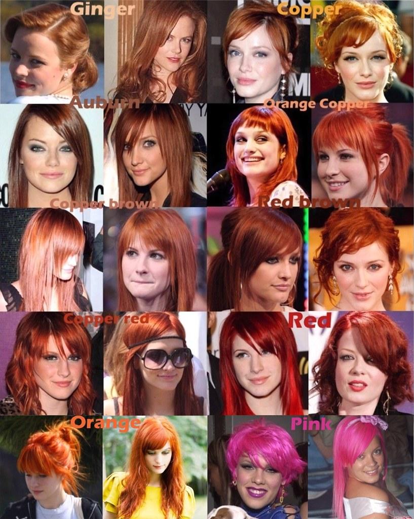 Copper orange hair dye photo