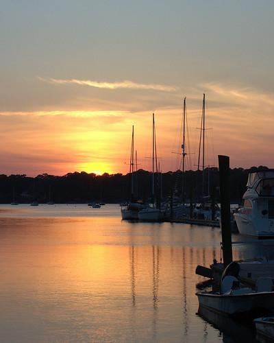 sunset usa boats southcarolina hiltonhead boatdock hiltonheadisland broadcreek perfectsunsetssunrisesandskys flickrunitedaward