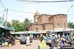 Catedral no centro de Bamako