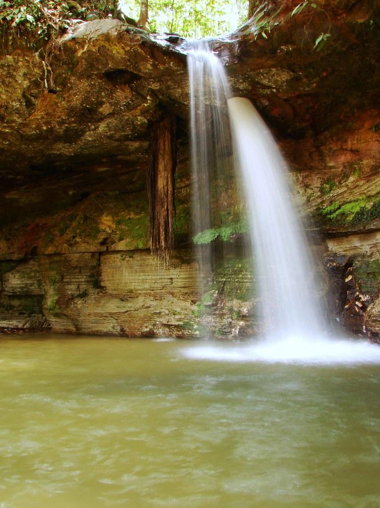 Holed Stone waterfall