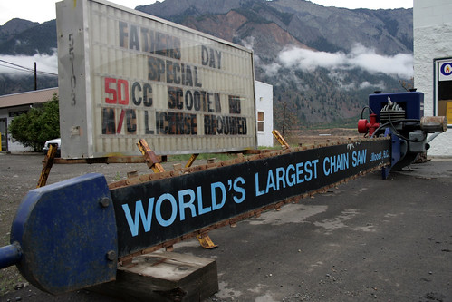World's Largest Chain Saw in Lillooet British Columbia