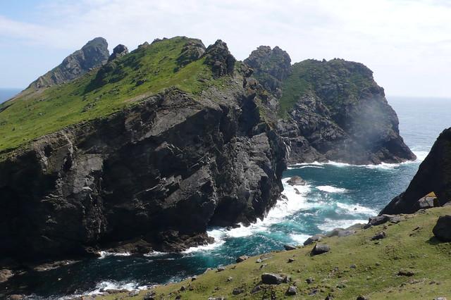 Isla de Dun. Archipiélago de San Kilda, Hébridas Exteriores de Escocia
