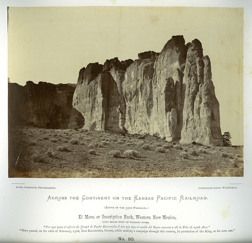 El Moro, or Inscription Rock, western New Mexico, 1000 miles west of Missouri River.