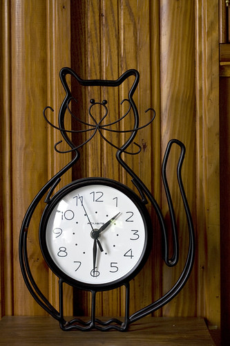kitty clock