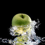 Diving for apples an apple inverted in a fish tank this for Inverted fish tank