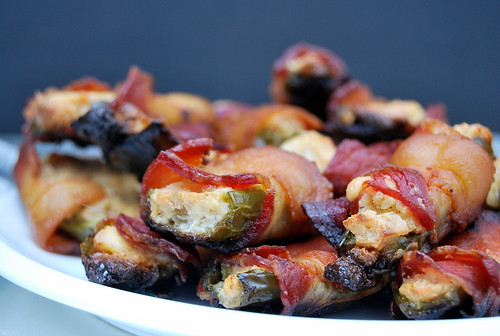 Bacon Wrapped Stuffed Jalapenos - side view-001