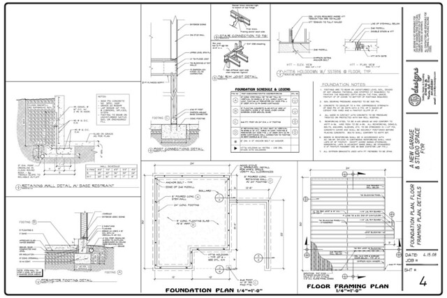 Garage apartment foundation and framing plans flickr for Garage foundation plans