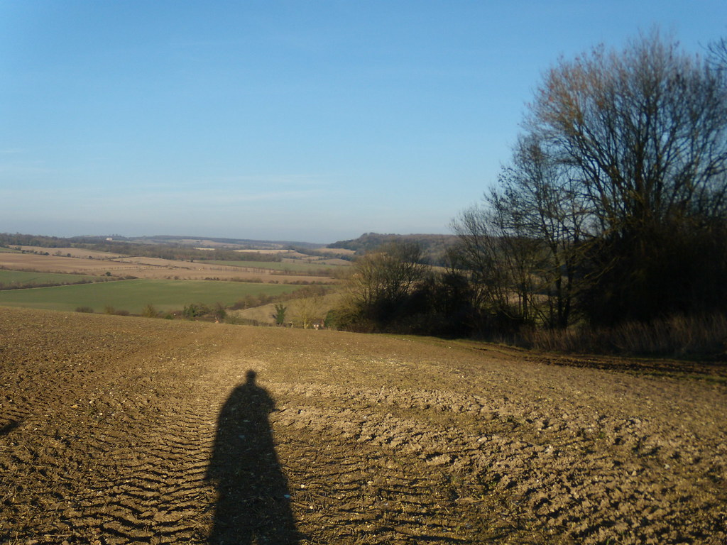 View with shadow Petersfield to Rowlands Castle