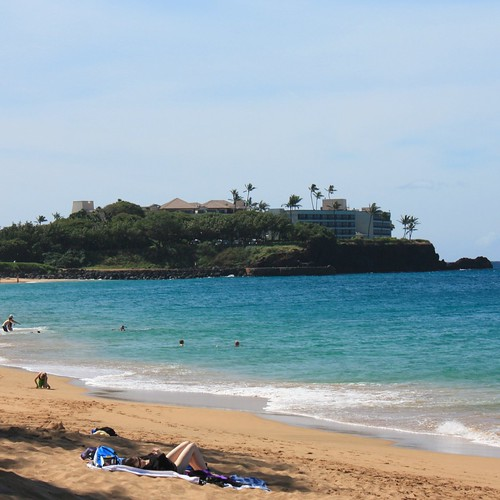 A view of the Sheraton Maui Resort from Kahekili Beach.