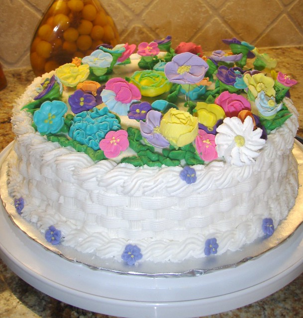 How To Make A Basket Of Flowers Cake : Flower basket cake flickr photo sharing