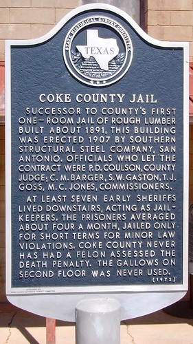 texas countyjails cokecounty robertlee texascountyjails texaspanhandleplains westtexas texashistoricalmarkers tx northamerica unitedstates us