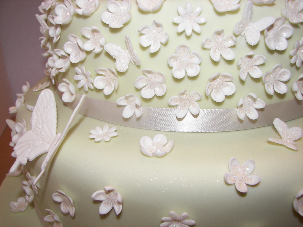 Blossom and Butterfly Wedding Cake - a photo on Flickriver