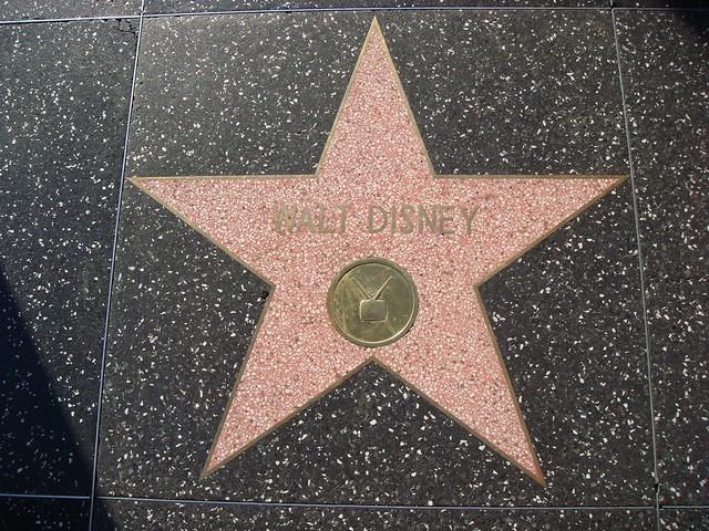 walt disney s star   hollywood walk of fame flickr
