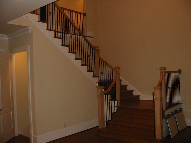 Wall Sconces For Basement : Foyer with Wall Sconce lighting Basement Stairs Flickr - Photo Sharing!