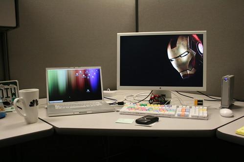 my set up at work