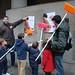 25.1.2009 Pegada de carteles de Derecho a Vivir