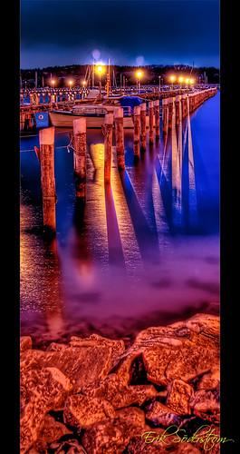 water night marina photoshop göteborg bay harbor boat nikon sweden harbour gothenburg sverige noiseninja distillery vatten hdr natt lucis d300 kile photomatix 1685 björlandakile 9xp björlanda 1685mm
