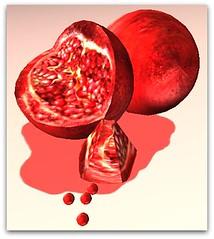 pomegranate, heart, fruit, food, illustration, valentine's day,