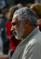 Profile beard man portrait