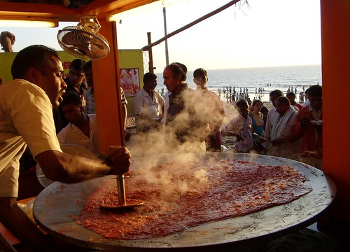 Delicious food at Juhu Beach, Mumbai By Tom Spender