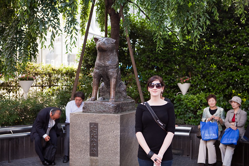 Brandie and Hachiko