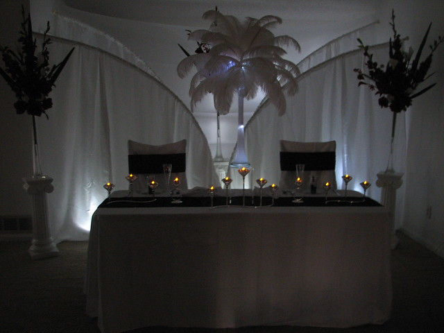 Bride and Groom Table Decoration Ideas Add a low light behind a wedding