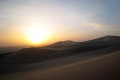 erg, horizon, sand, plain, aeolian landform, natural environment, desert, dune, landscape, sahara, dusk, sunrise,