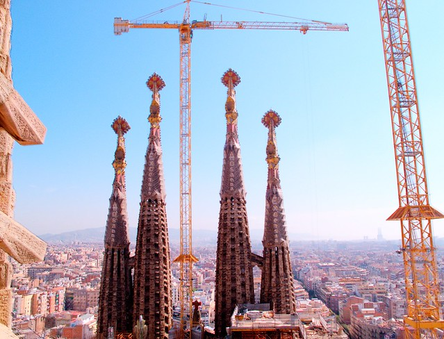 Sagrada towers HDR