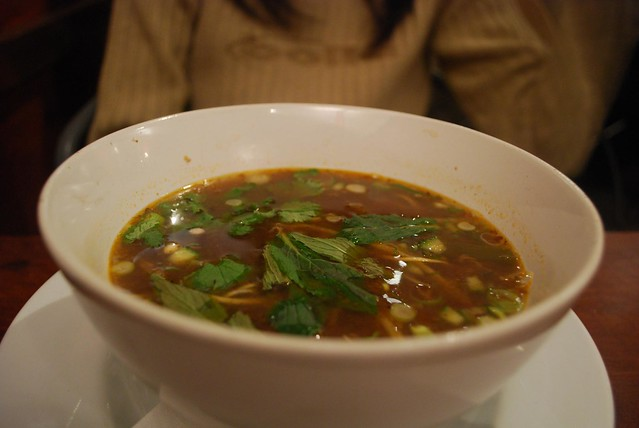 Spicy fish soup with marinated squid and vegetables for Spicy fish soup