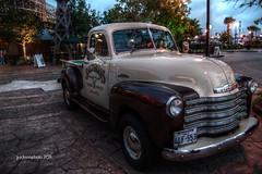 compact car(0.0), vintage car(0.0), automobile(1.0), pickup truck(1.0), vehicle(1.0), truck(1.0), chevrolet advance design(1.0), antique car(1.0), land vehicle(1.0), motor vehicle(1.0), classic(1.0),