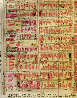 Map of Brush Park, Detroit
