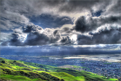 california sun mountain clouds season landscape bay spring high cool scenery cloudy hiking top hill scenic sanjose fluffy peak sunny hike fremont oneday ugly bayarea valentines ft rays miles february sunrays 2009 hdr height milpitas missionpeak feb14 blackclouds photomatix nikond60 myfirsthdr mywinners 1exposure goldstaraward photoshopcs4 hdrfrom1exposure 2517ft