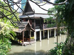 Traditional thai house at Suan Pakkard Palace