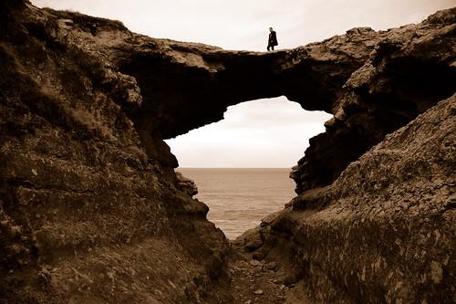 sepia puente santander acantilado cantabria derrumbe cabomayor puentedeldiablo devilbridge farodesantander farodecabomayor olétusfotos puentedeljorao