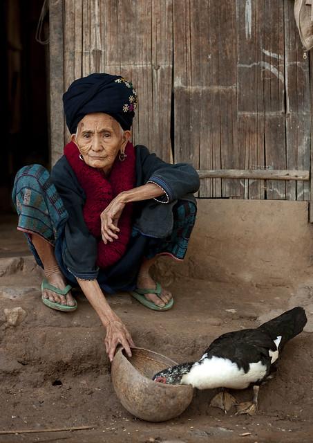 Old Yao woman Laos