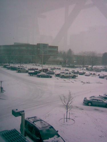 street snow hospital parkinglot
