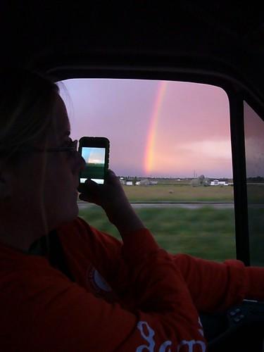 Rainbow and an iPhone