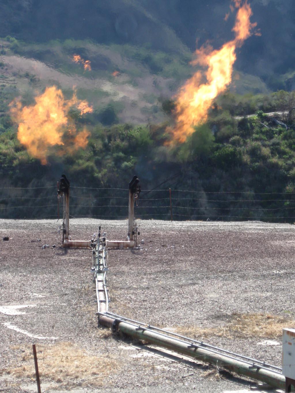 Natural Gas Flare Temperature