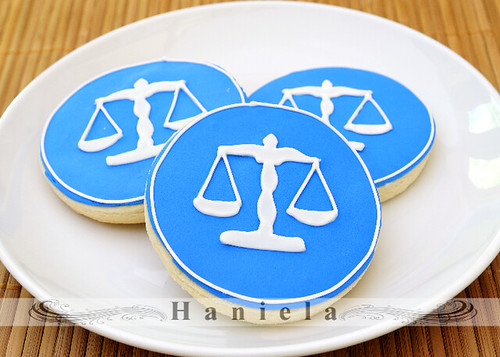 Scale of Justice Graduation Cookies