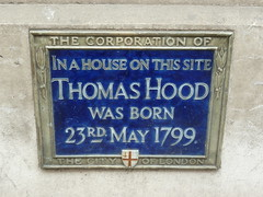 Photo of Thomas Hood blue plaque