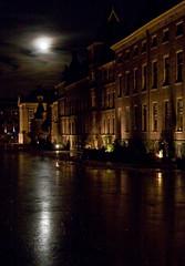 Hofvijver & Binnenhof at full moon
