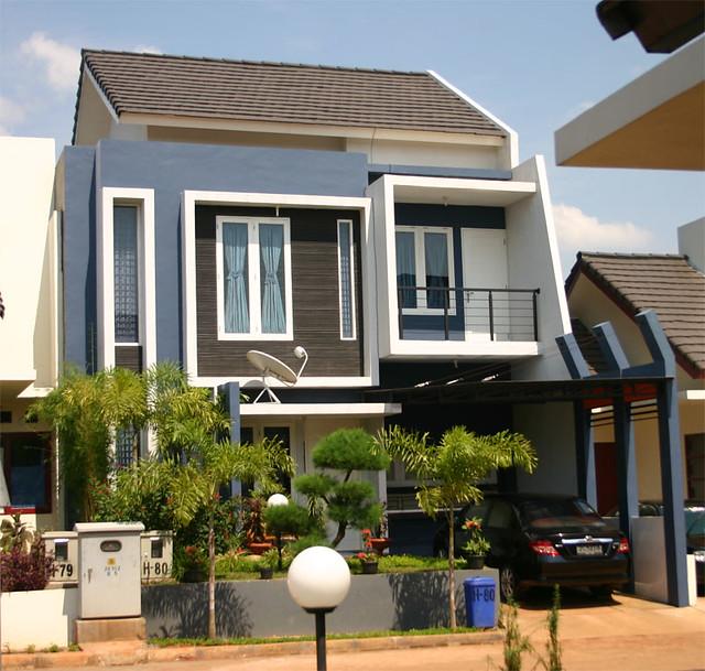 rumah 2 lantai model modern minimalis terdiri 3 kamar