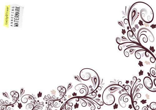 vector floral border design | Flickr - Photo Sharing!