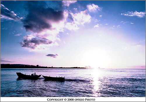 sunset sky photoshop river nikon explosion taiwan taipei 台北 淡水 1735mm aplusphoto d700 onkio sheaudih
